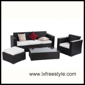 Outdoor Rattan Sofa Set with UV Resistant Wicker (SF-016)