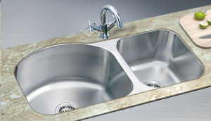 Double Bowl Satin Finish Sink (XS-PS8043)