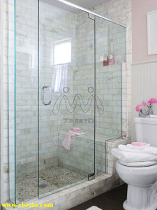 Frameless Customized Safety Tempered Laminated Shower Curtain Building Glass Door