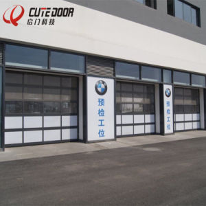 Industrial Aluminium Frame Frosted Glass Security Exterior Garage Door