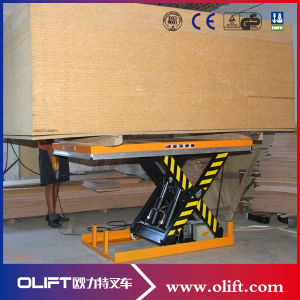 Small Scissor Lift Table Used in Wood Facotry