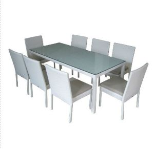 Stylish Outdoor Garden Patio Rattan Dining Table and Chairs (TY0005)