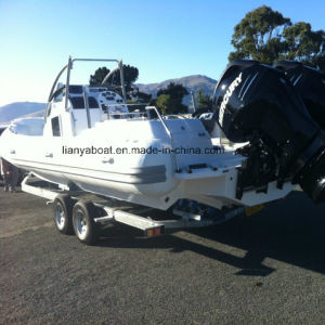 Liya 8.3m China Hypalon Inflatable Boat Cabin Rib Boats Yacht for Sale pictures & photos