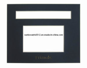 Picture Frame - Black Core Two Opening Photo Frame Mat Board, Mount Board