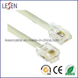 Rj11 Telephone Cable with PVC/PE/Lszh Jacket pictures & photos