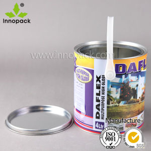 4L Round Car Paint Tin Can /Full Color Printing pictures & photos
