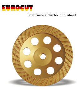 Diamond Cup Wheel with Continuous Turbo Grinding Cup Wheel