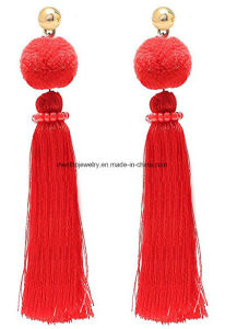 New Design Elegant Long Thread Fashion Dangle Tel Earrings
