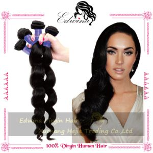 Grade 6A Loose Wave Natual Indian Remy Human Virgin Hair Extension