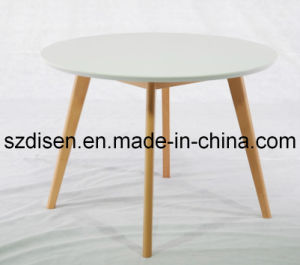 Modern Solid Wood Dining Table/ Eames Small Round Table (DS-WT24)