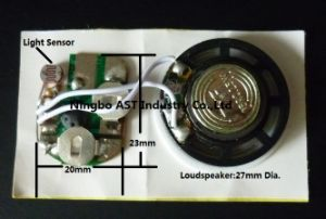 Light Activated Sound Chip, Light Sensor Sound Module (S-3016) pictures & photos