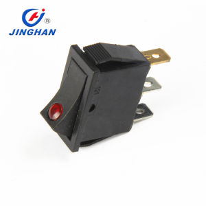 Waterproof Red DOT Illuminated Rocker Switch on-off Rocker Switch with 12V DC LED Light