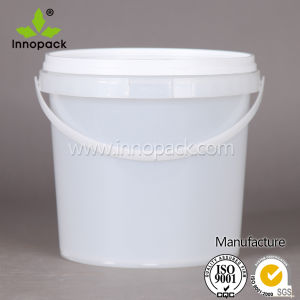 5L Printed Best Price Clear Plastic Bucket for Emulsion Paint pictures & photos