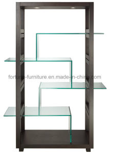 Black Wooden Display Cabinet with Glass Decaration (I&D-NA-09)
