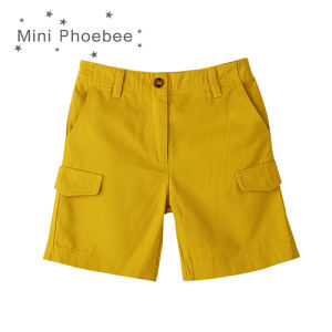 Yellow 100% Cotton Boys′ Cargo Shorts for Summer pictures & photos