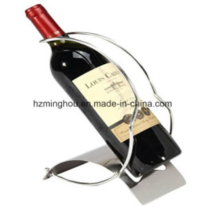 Elegant Sleek Modern Stainless Steel Wine Display Stand for Decor