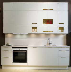 Popular Style High Glossy Lacquer Finish on MDF E1/E0 Kitchen Cabinets
