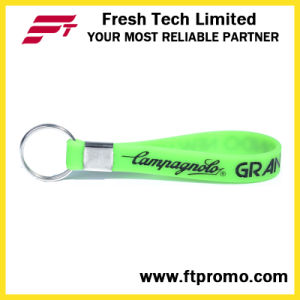OEM Promotional Printed Silicone Wristband Keyring with Your Logo pictures & photos