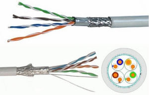 Ce/CCA Certificate SFTP Cat5e Network Cable (305m/Roll) pictures & photos