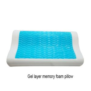 Gel Layer Wave Memory Foam Pillow pictures & photos