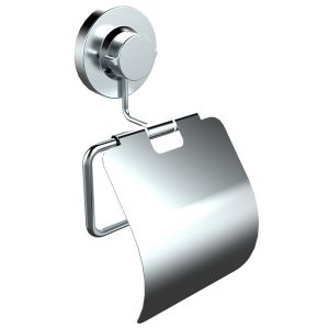 Bathroom Suction Toilet Paper Holder with Cover