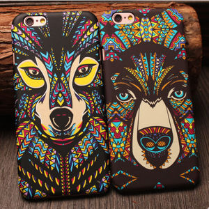 Hot Charm Design Fluorescence Aztec African Style Animals PC Plastic Cover Case for iPhone 6