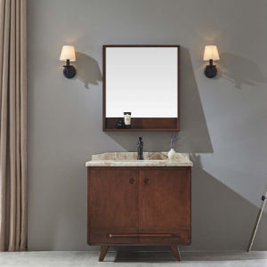Classic Solid Wooden Mirrored Bathroom Vanity Cabinet (GSP14-022) pictures & photos