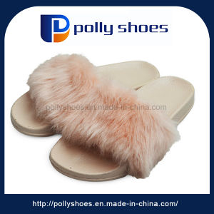 High Quality Pcu Men Cotton Slippers Plush Slipper pictures & photos