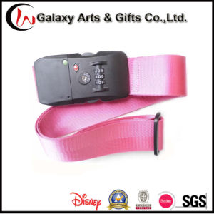 Promotion Gift Nylon Material Custom Adjustable Luggage Strap with Tsa Lock
