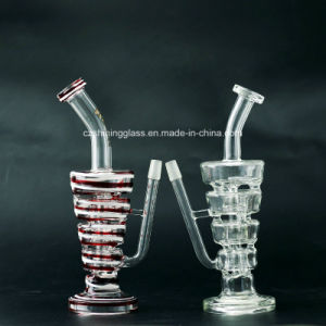 Fantastic Design Recycler Glass Smoking Water Pipes Hookahs with Swiss pictures & photos