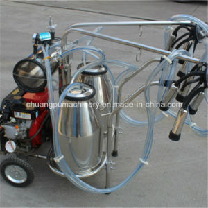 Diesel Engine Mobile Cow Milking Machine for Dairy Farm pictures & photos