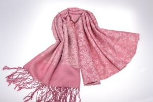fashion Silk & Acrylic Blended Scarf for Lady with Jacquard pictures & photos