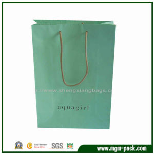 Recycle Mint Green Paper Gift Handbag for Promotion pictures & photos