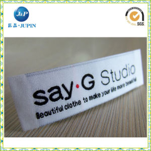 2016 High Quality Famous Brand Clothing Satin Woven Label (JP-CL078) pictures & photos