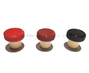 Synthetic Cork and Plastic Combined Bottle Stopper (PS008-24) pictures & photos