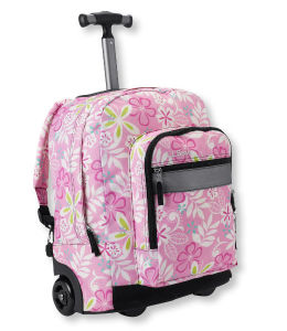 Polyester Fabric Printing Plush Rolling Backpack for Girl School pictures & photos