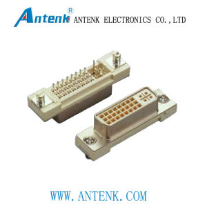 DVI Connector Female - Right Angle and DIP Type pictures & photos