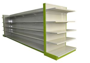 Cold Rolled Steel Supermarket Display Gondola Shelf