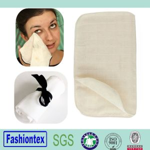 Organic Cotton Muslin Facial Cleansing Cloth Muslin Fabric pictures & photos