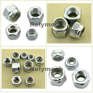 Inch/American Zinc Plated Carbon Steel Nylong Insert Hex Lock Nut pictures & photos