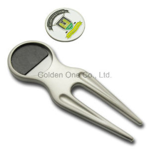 Custom Metal Golf Divot Repair Tool with Ball Marker pictures & photos