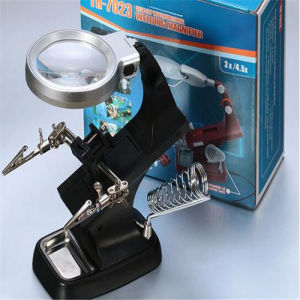 Multi-Functional Desk Reading Magnifier Lamps with 2 LED Lights/Lamps (EGS-7026A) pictures & photos