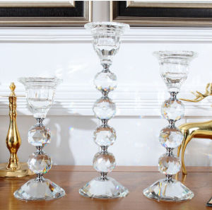 Transparent Cheap Tealight Crystal Candleholder for Decoration pictures & photos