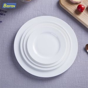 China Wholesale Cheap White Porcelain Ceramic Dinner Plate - China ...