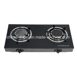 2 Burners Tempered Glass Top 135# Infrared Burner Gas Cooker/Gas Stove pictures & photos