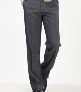 Men′s Leisure Pants/ Men Middle Waist Casual Straight Trousers/Mens Iron-Free Business Pants P4859 pictures & photos
