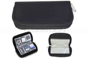 Multi Color Fabric Cotton 22 Slots Memory Card Case Bag for 18 SD Card 4 CF Card pictures & photos
