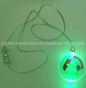 2015 Battery Powered Flashing LED Necklace with Logo Print (2001)