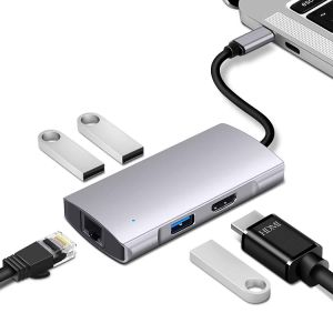 5 in 1 USB-C 3.0 HUB Type C Adapter with 4K HDMI Converter For Macbook// iPad Pro