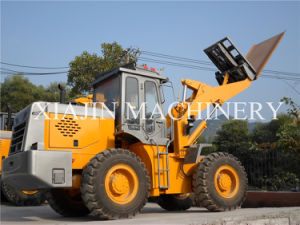 China Manufacturer High Quality Forklift Wheel Loader for Slab Load